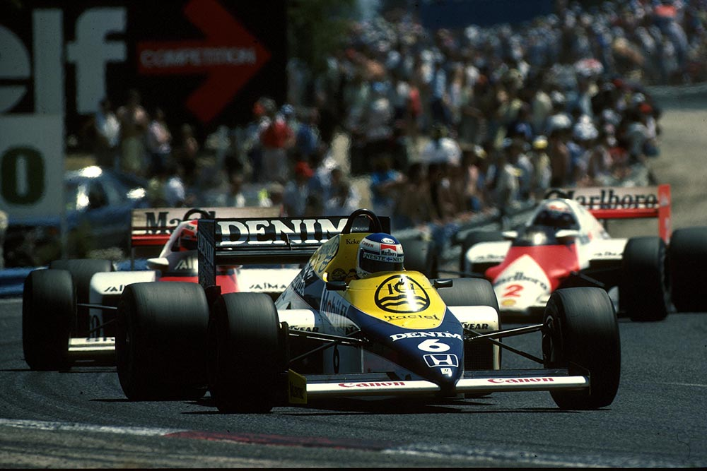 Keke Rosberg driving his Williams FW10.