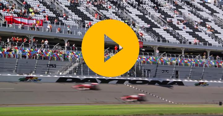 Watch: Vettel and Kimi drive the Daytona banking
