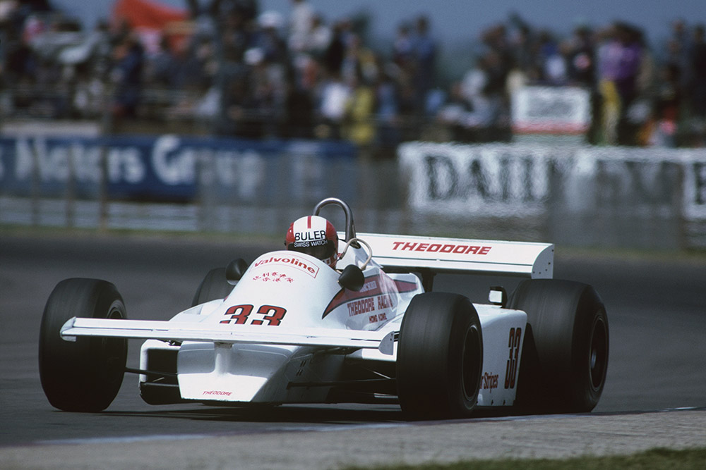 Marc Surer at the wheel of a Theodore TY01-Ford.
