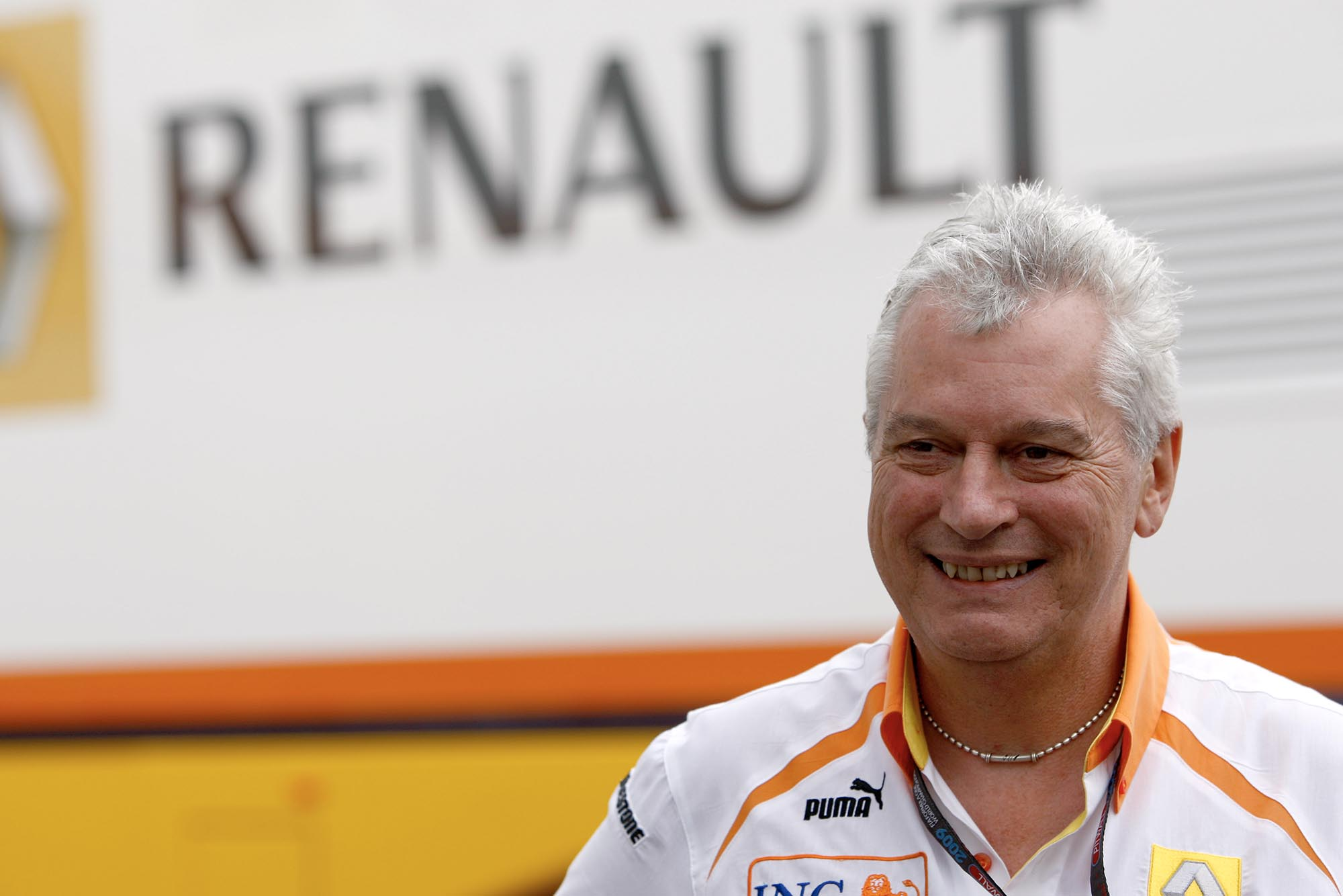 Pat Symonds Renault technical director at the 2009 British Grand Prix