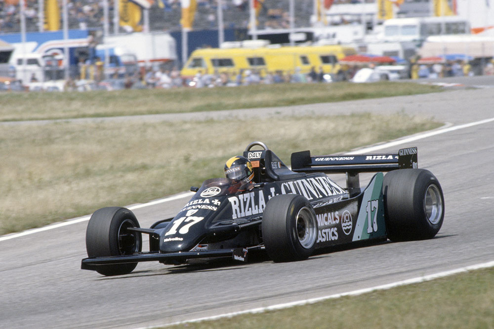 Derek Daly in his March 811-Ford Cosworth.