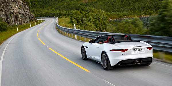 The four-cylinder Jaguar sports car