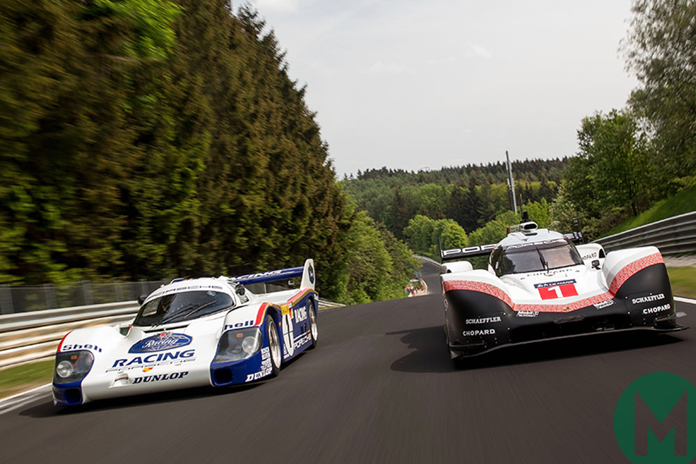 Watch: Porsche 919 and 956C at the Nürbugring