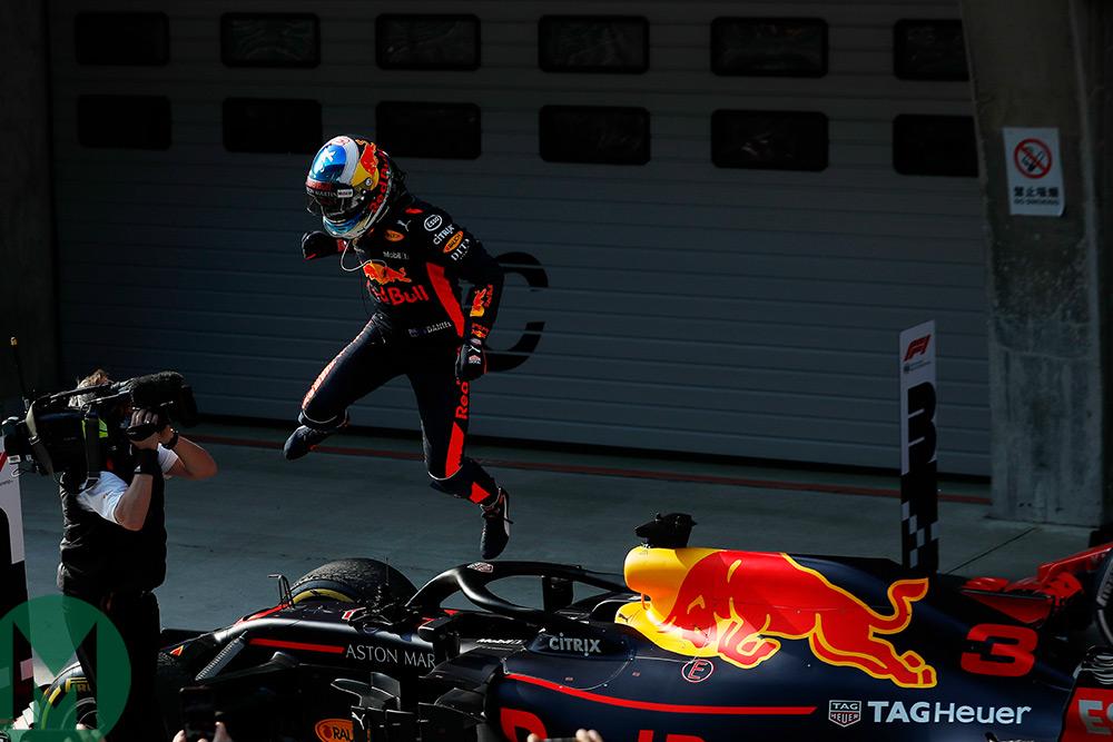Why did Ricciardo jump?