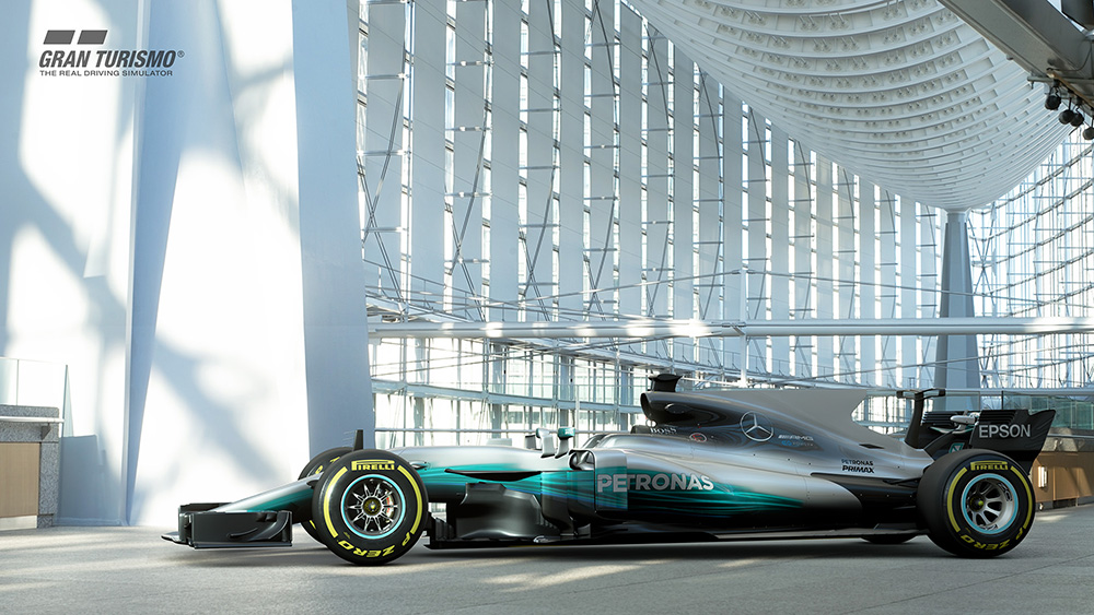 GT Sport adds Mercedes F1 car