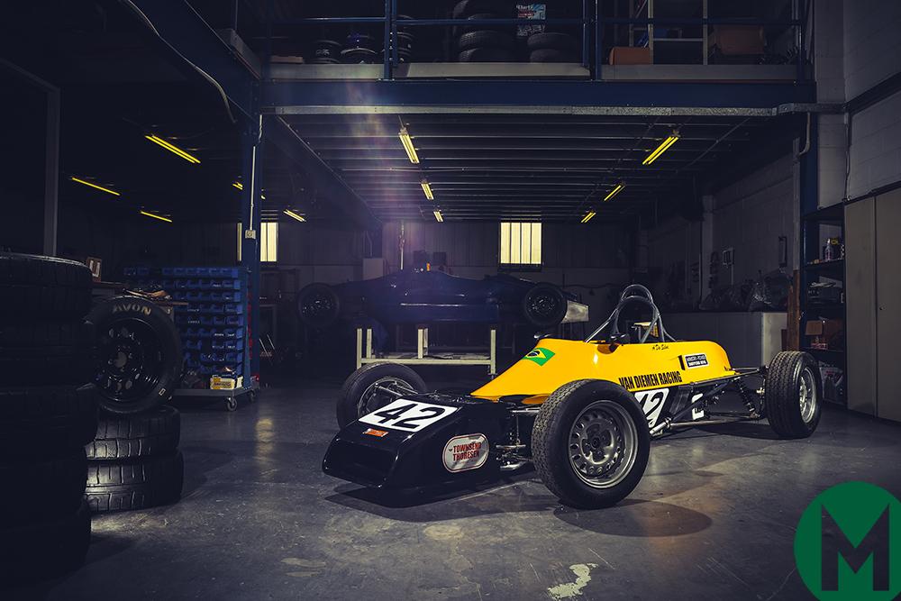 Senna's first racing car at Race Retro