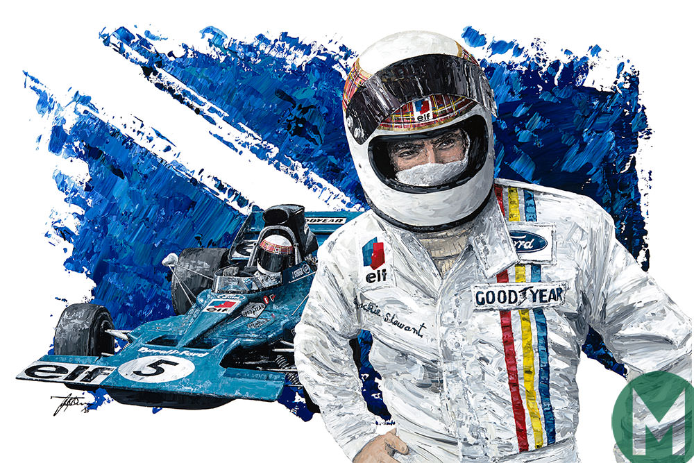 WIN a signed print of Sir Jackie and his Tyrrell 003