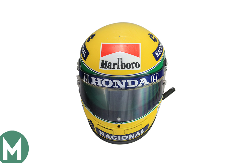 Senna F1 helmet breaks auction record