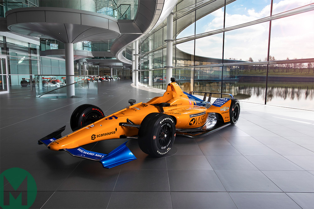 Alonso's Indy 500 McLaren unveiled