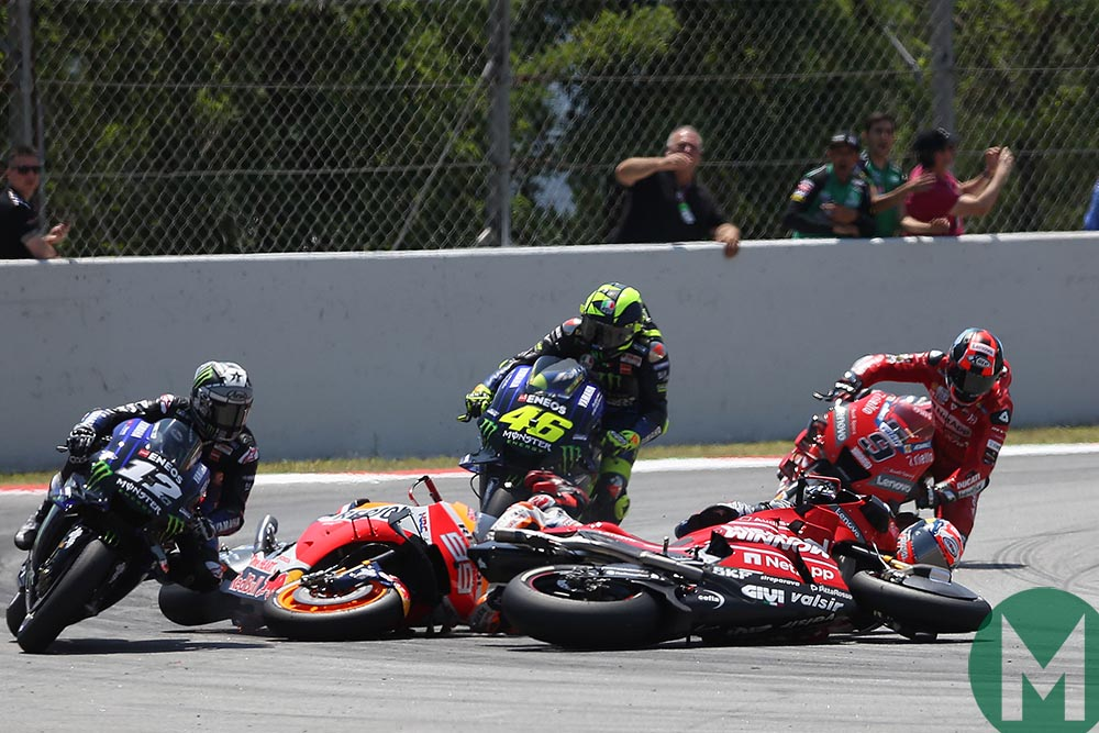 2019 MotoGP Catalan GP: Lorenzo 'would've loved to have crashed alone'