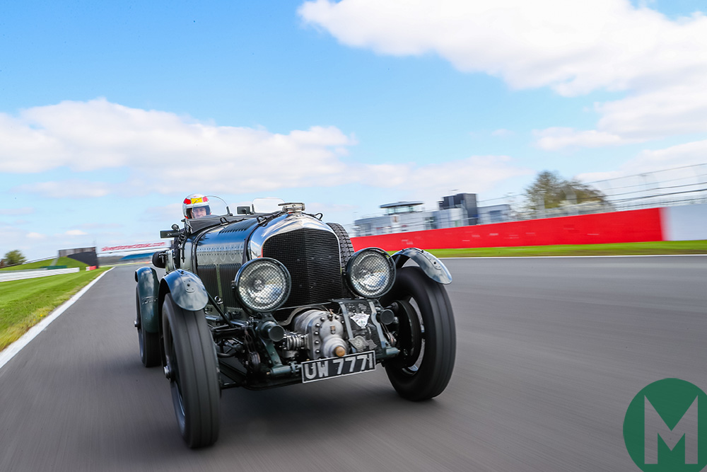 Watch: Tom Kristensen's Bentley Blower blast at Silverstone