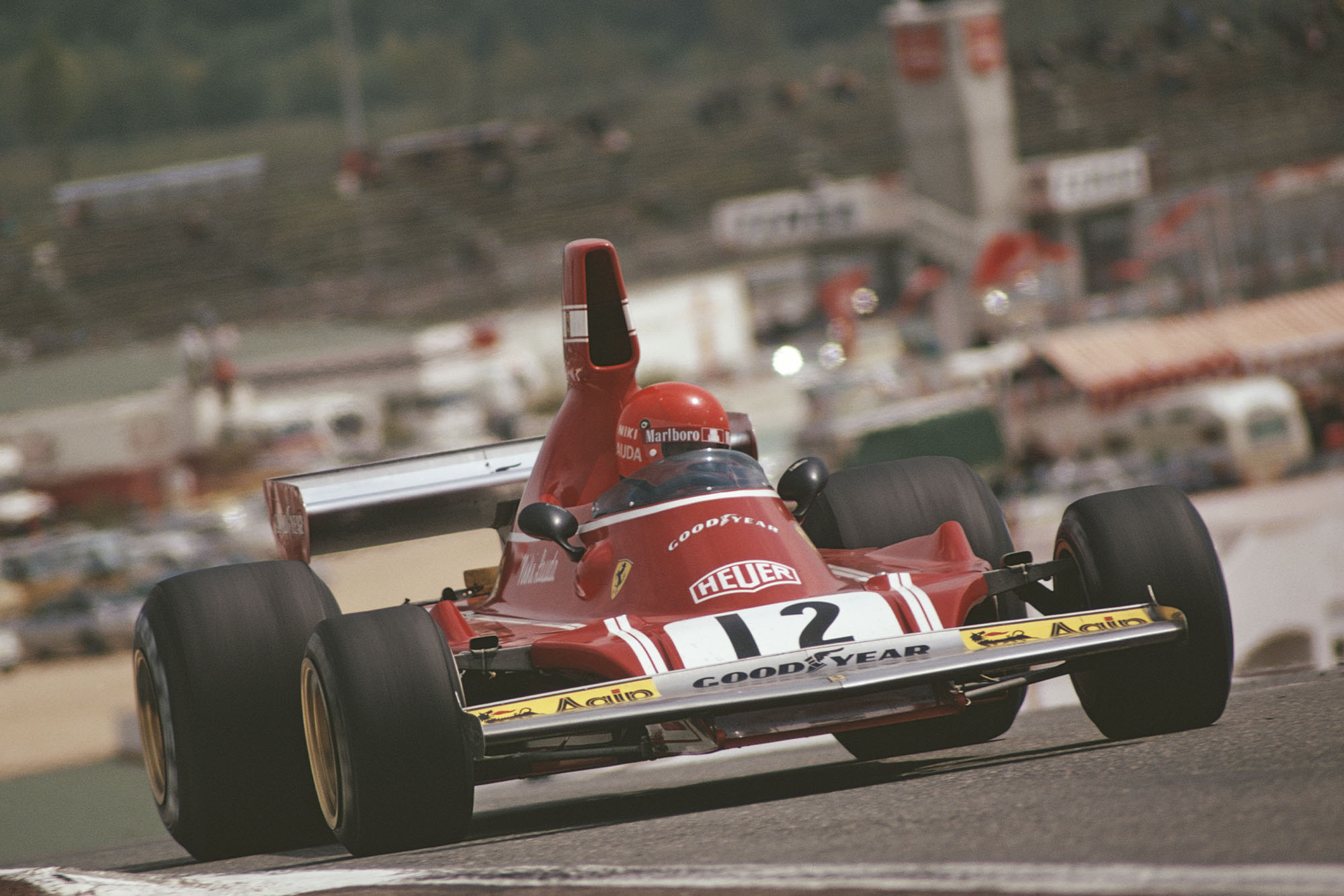 Niki Lauda (Ferrari) at the 1974 Spanish Grand Prix, Jarama.