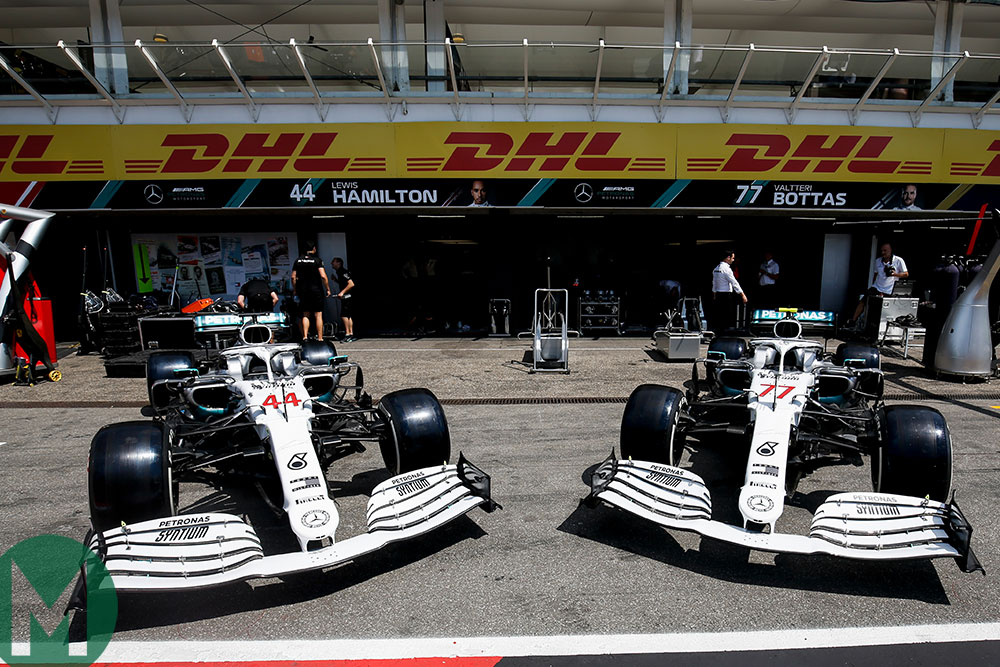 Mercedes unveils special white F1 livery to commemorative 125 years of motor sport