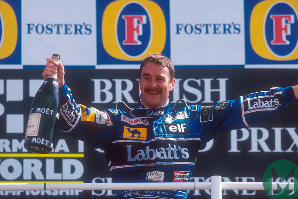 """""""The Mexican wave carried me to victory"""": Nigel recalls Mansell-mania at Silverstone"""