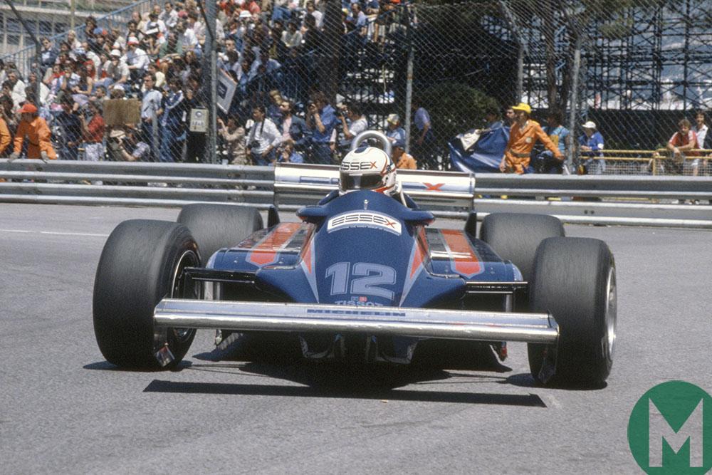 Nigel Mansell in his Lotus 87 at Monaco in 1981