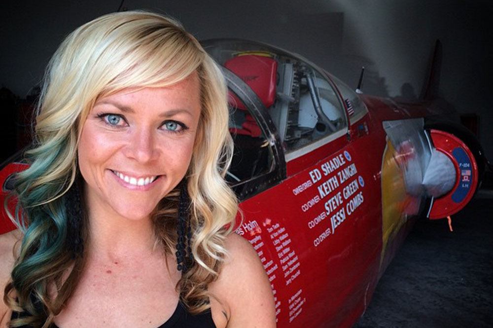 Jessi Combs with jet car