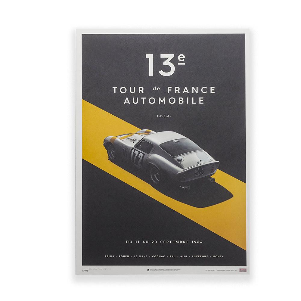 Product image for Ferrari 250 GTO Silver Poster