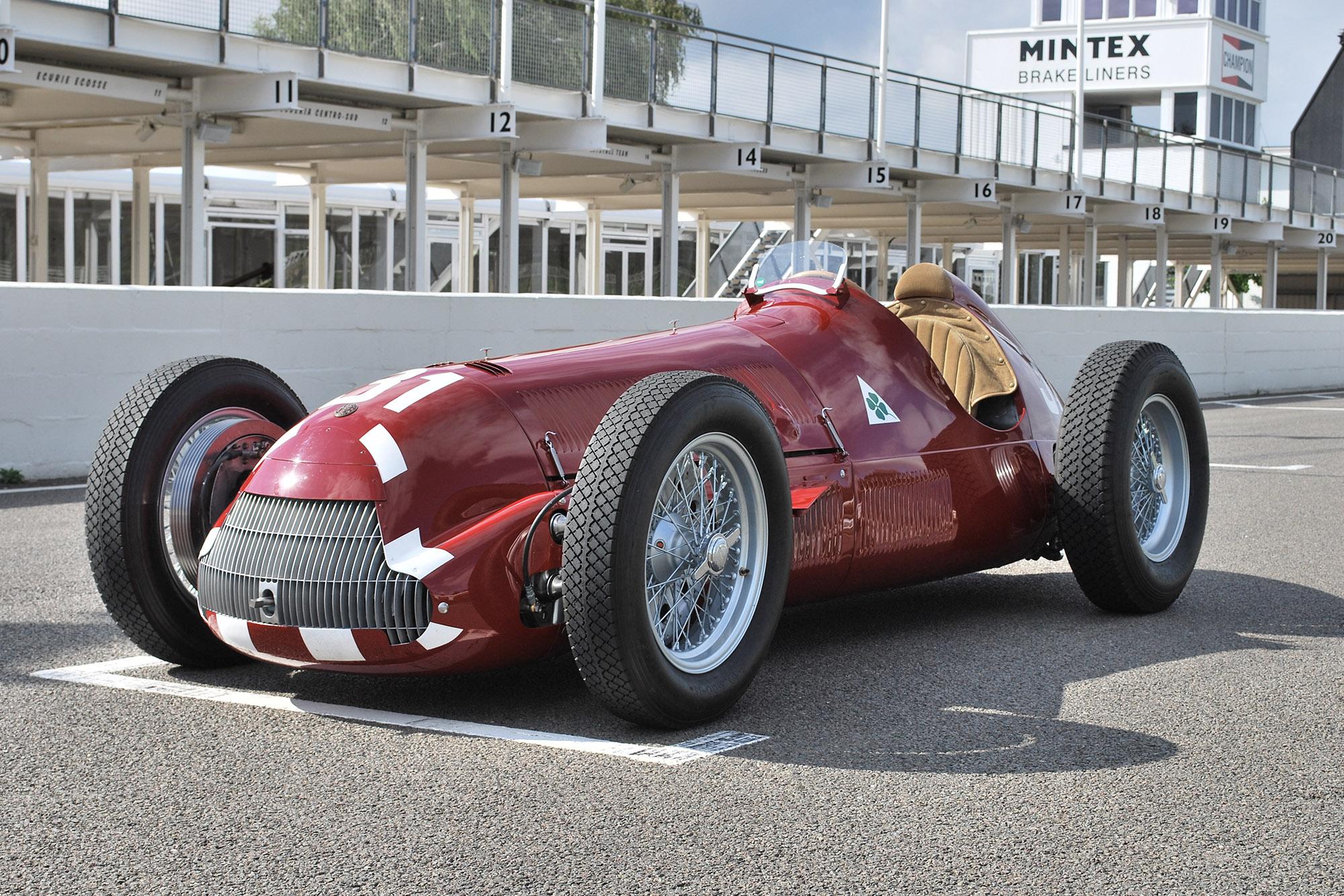 Alfa 158 testing at Goodwood