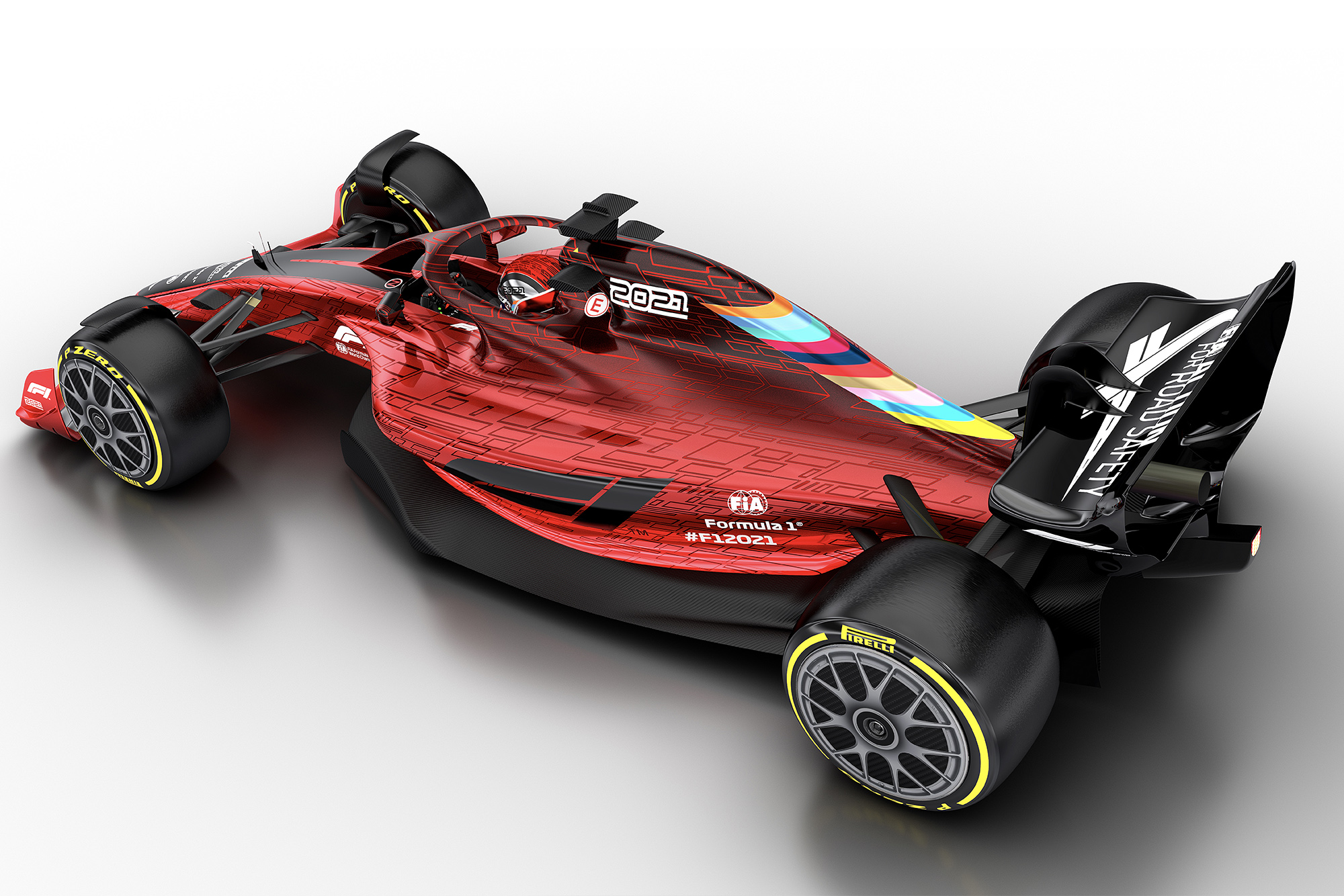 2021 F1 car design from top