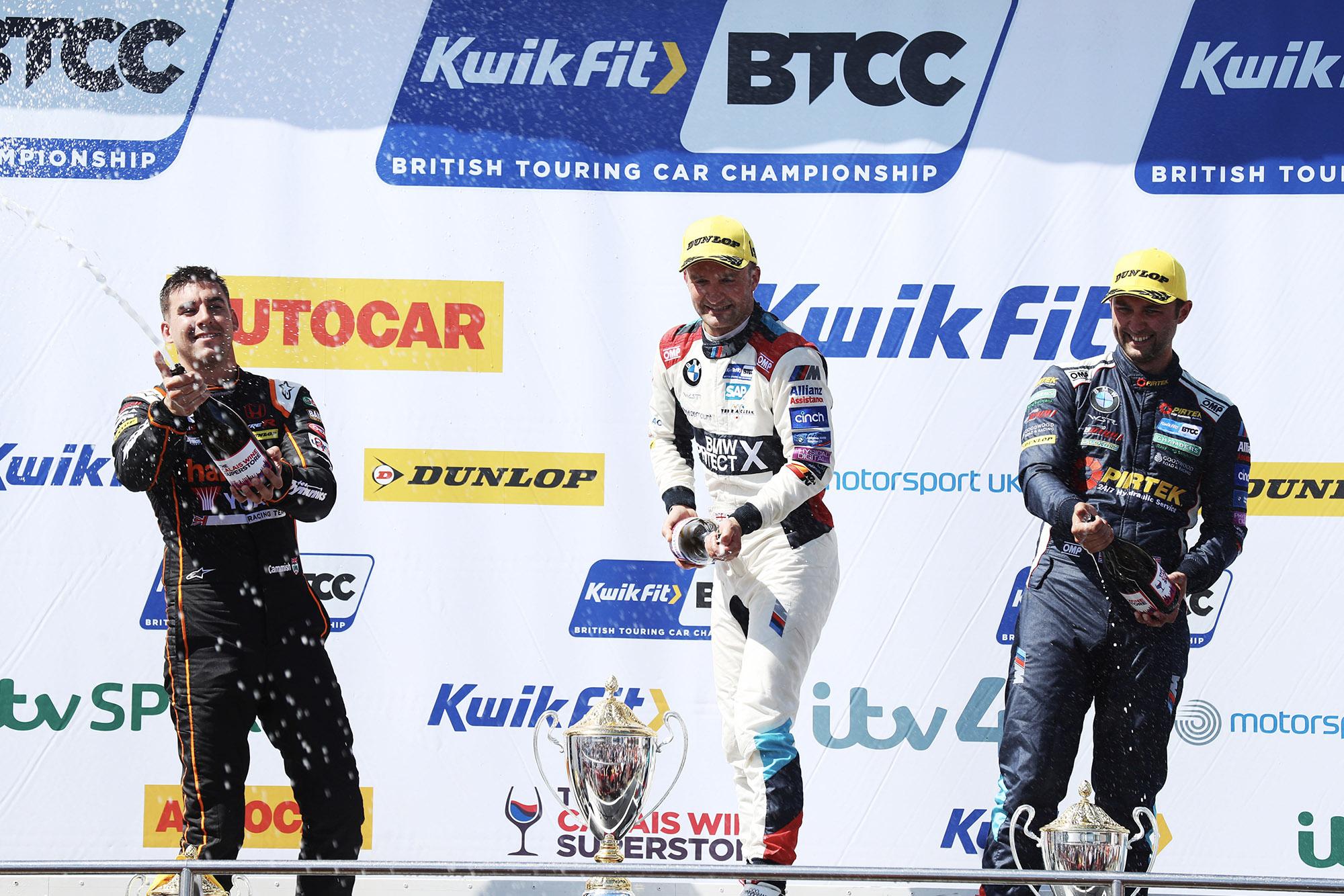 2019 BTCC Oulton Park podium