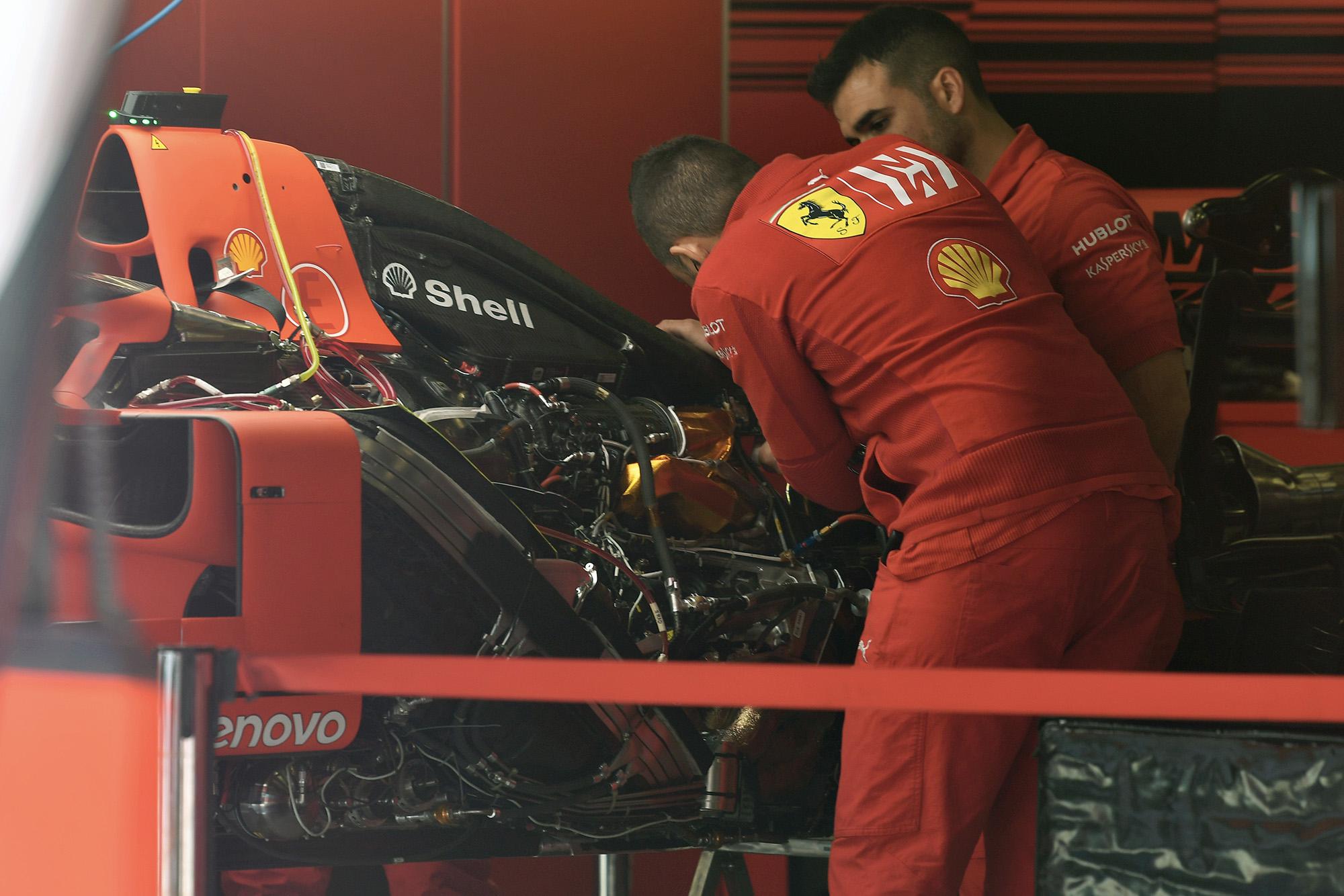 Image result for ferrari 2020 garage F1
