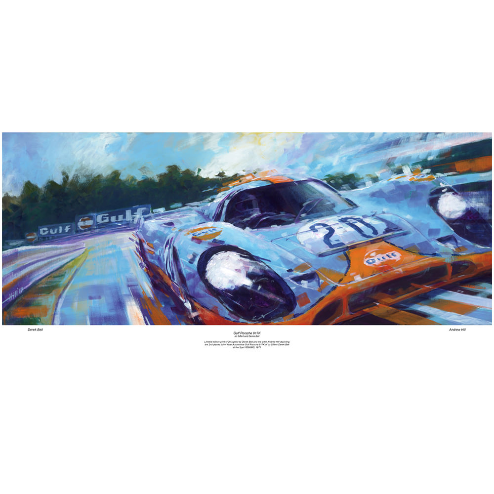 Product image for Porsche 917K at Spa 1000KMS 1971 Print: Signed Derek Bell