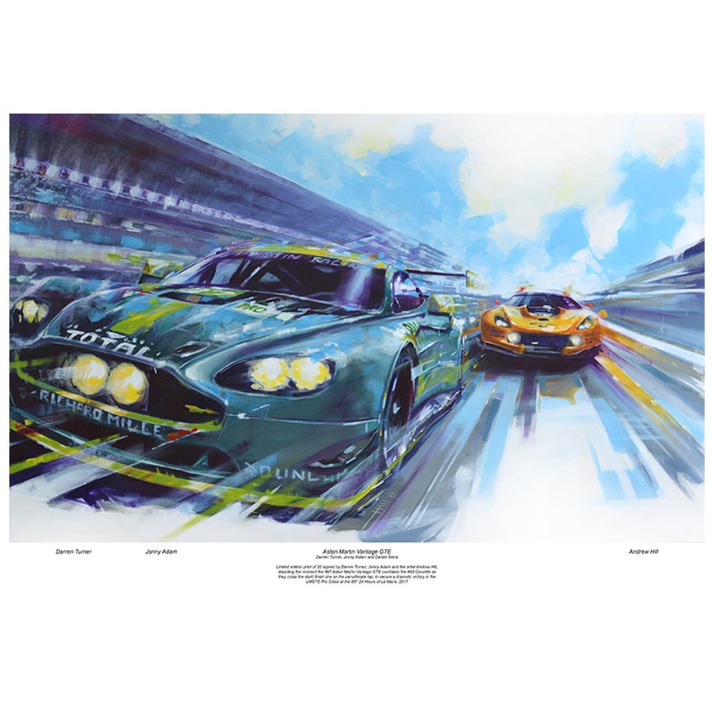 Product image for Aston Martin Vantage GTE #97: Signed Darren Turner and Jonny Adam
