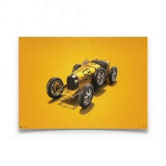 Product image for Bugatti T35 Yellow Targa Florio 1928 Poster