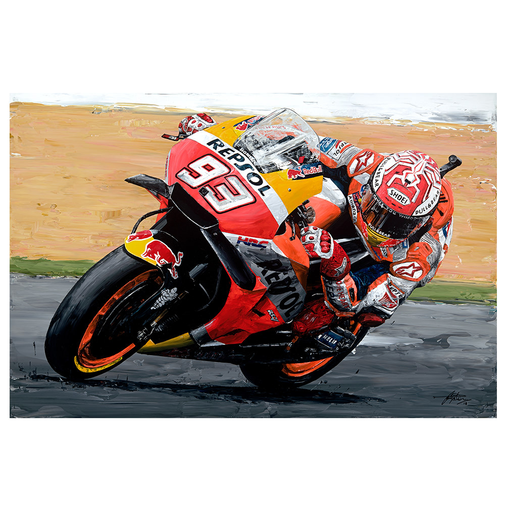 Product image for Marc Marquez -2018 Moto GP Print