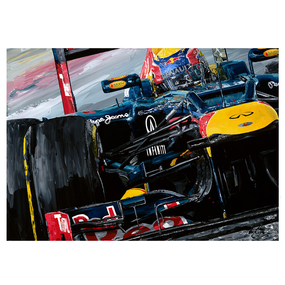 Product image for Mark Webber 2012 Red Bull Racing Giclee Print