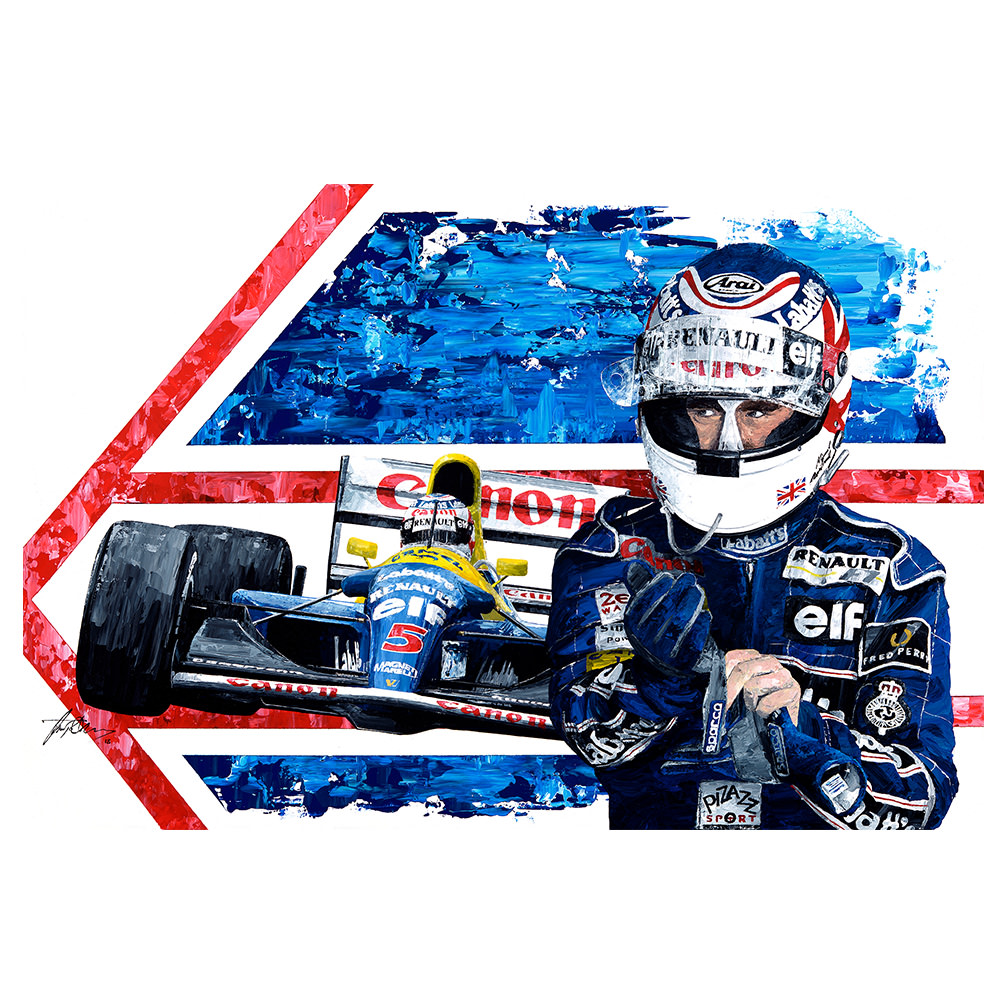 Product image for Nigel Mansell -1992 F1 World Champion Print