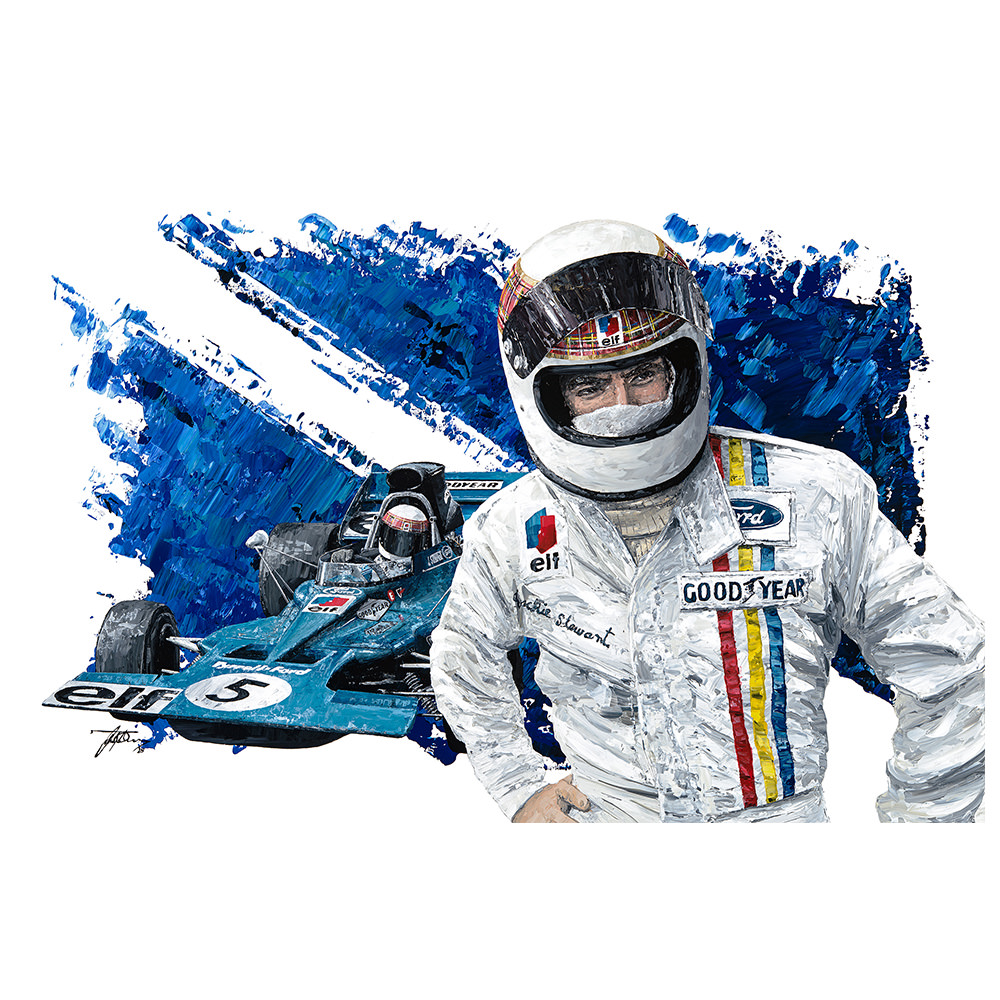 Product image for Sir Jackie Stewart - F1 World Champion Print