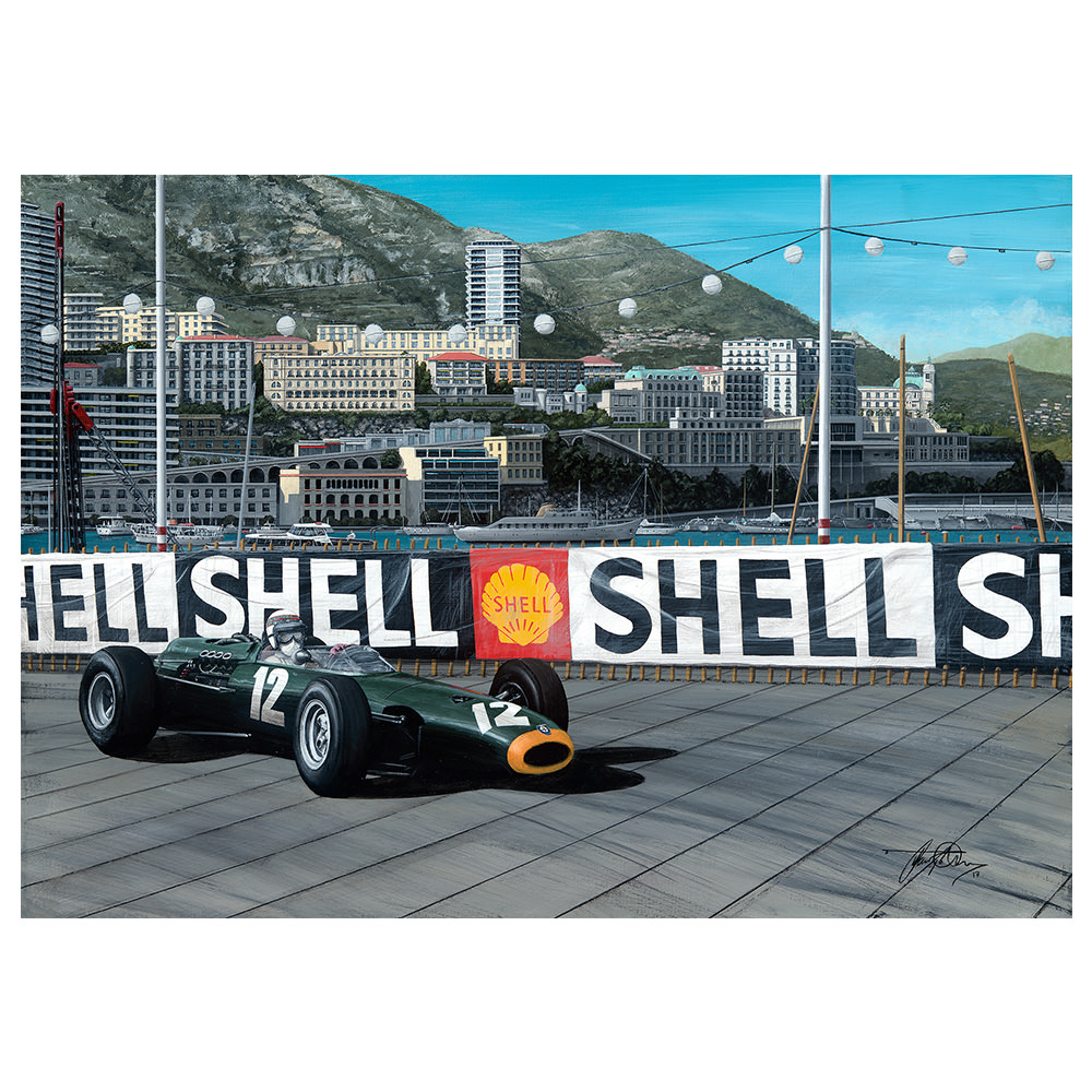 Product image for Sir Jackie Stewart 1966 Monaco Grand Prix Print