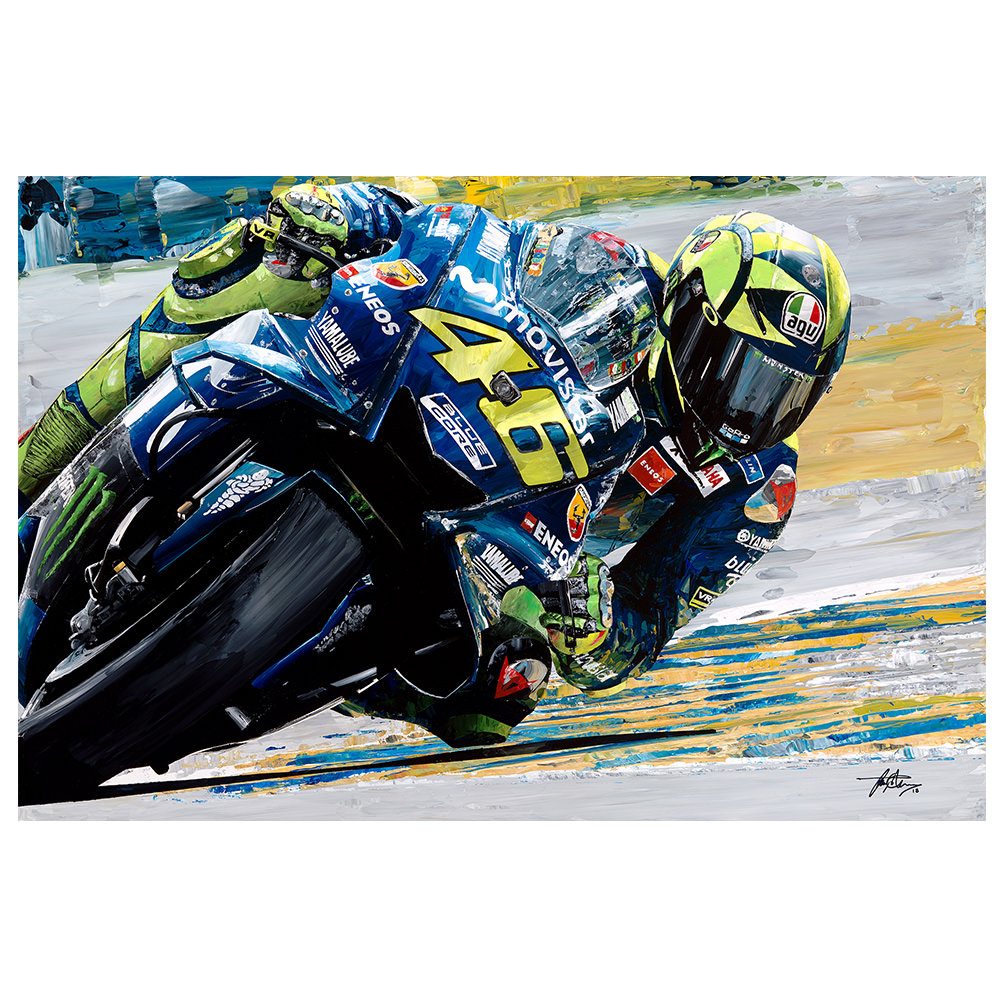 Product image for Valentino Rossi 2018 Yamaha Giclee Print