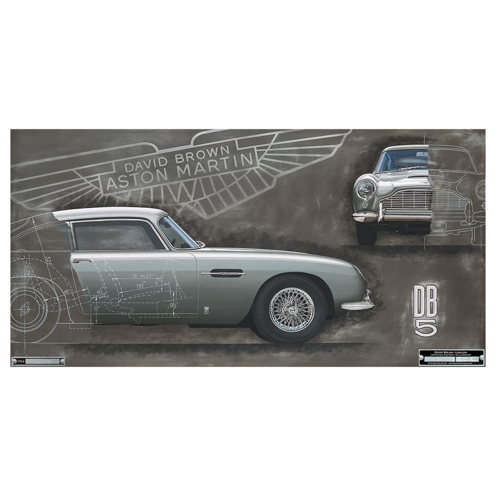 Product image for Aston Martin DB5 Aluminium Print