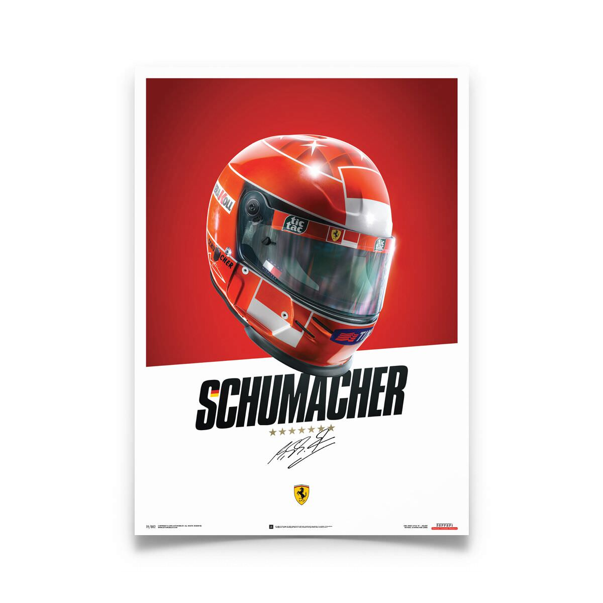 Product image for Ferrari F1 2000 Michael Schumacher Helmet Poster