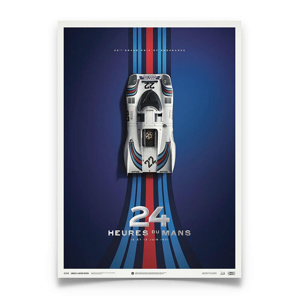 Product image for Porsche 917 Martini 24h Le Mans 1971 Poster