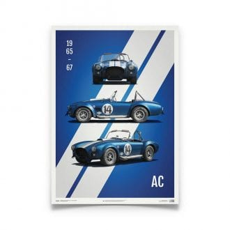 Product image for Shelby-Ford AC Cobra Mk III Blue 1965 Poster