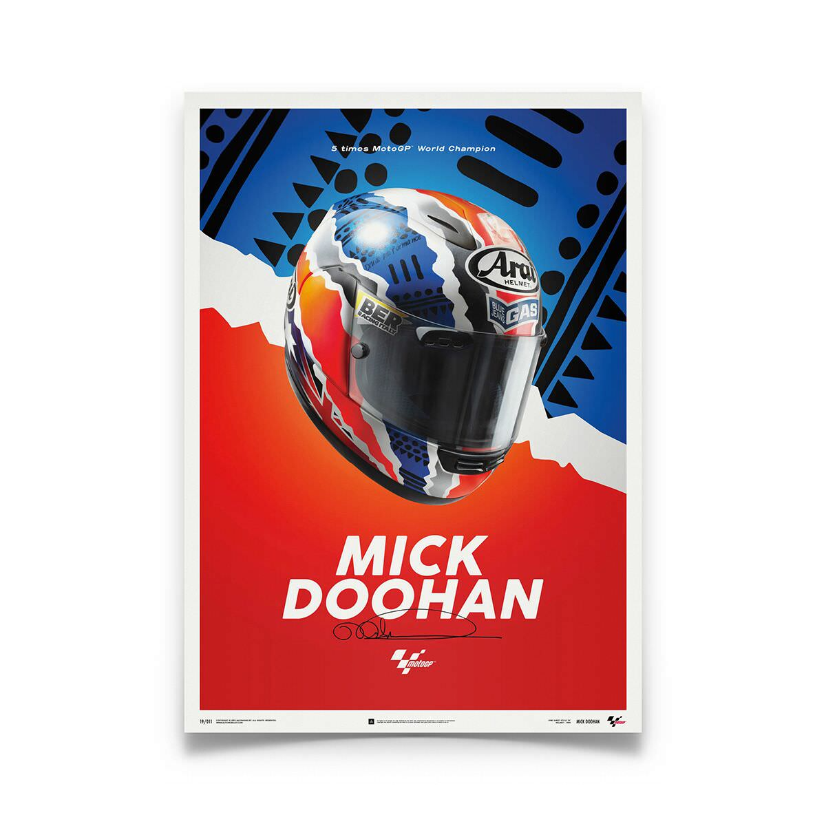 Product image for Mick Doohan Helmet 1999 Poster