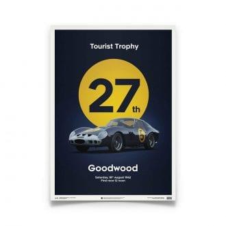 Product image for Ferrari 250 GTO Dark Blue Goodwood TT 1962 Poster