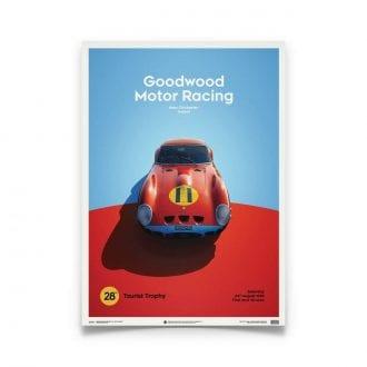 Product image for Ferrari 250 GTO Red Goodwood TT 1963 Poster