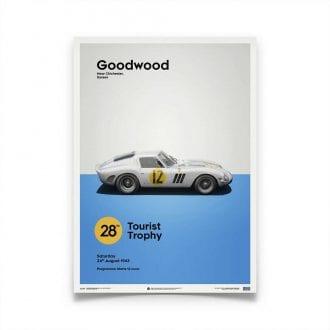 Product image for Ferrari 250 GTO White Goodwood TT 1963 Poster