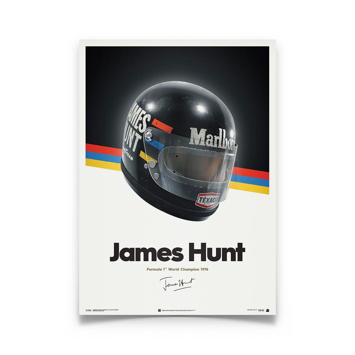 Product image for James Hunt Helmet 1976 Poster