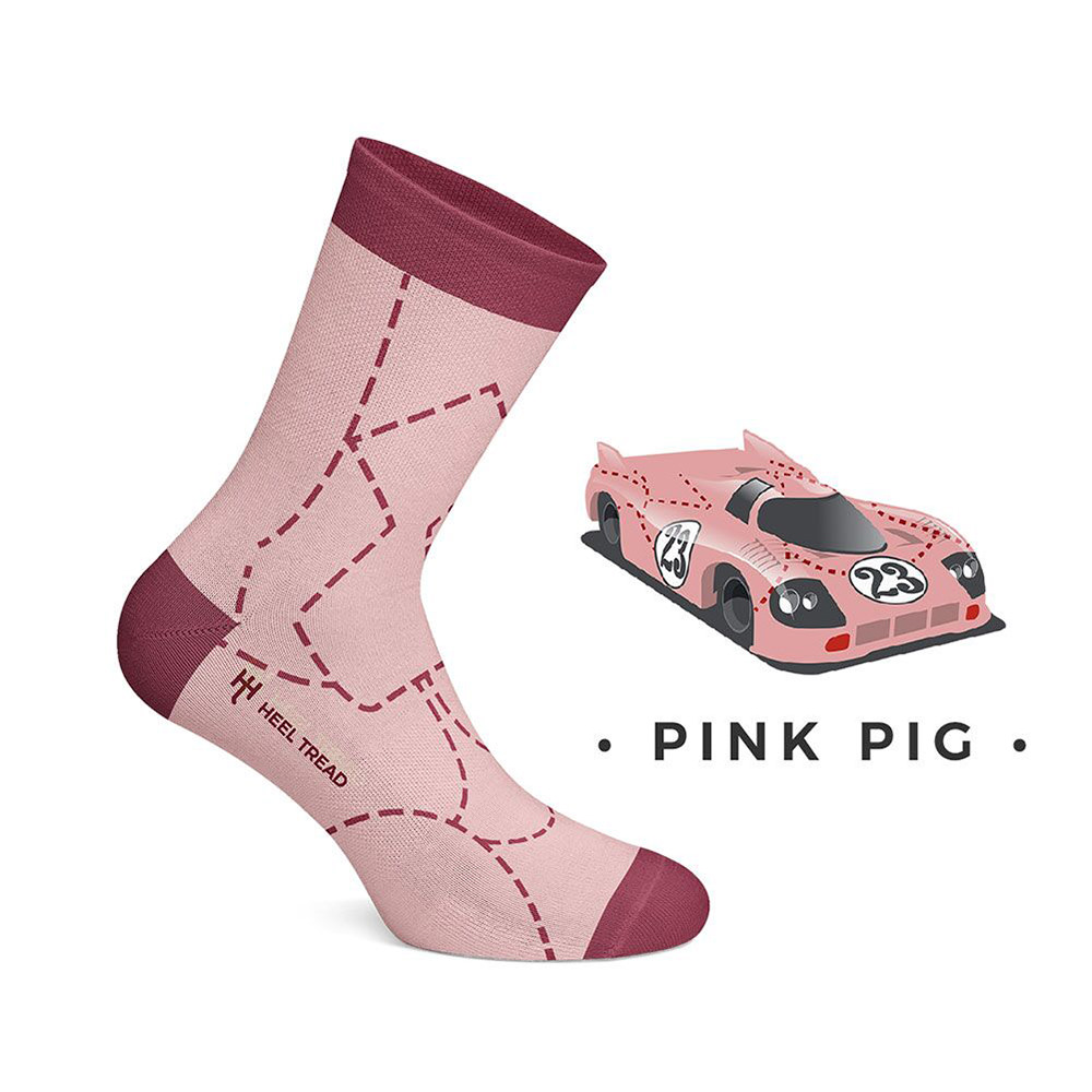 Product image for Pink Pig: Heel Tread Socks