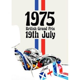 Product image for 1975 British Grand Prix Print