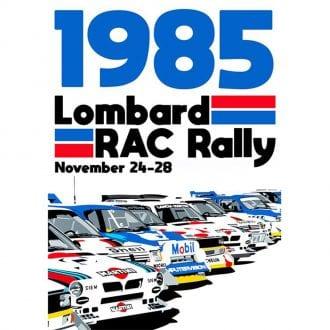 Product image for Lombard Rac Rally Group B 1985 Print