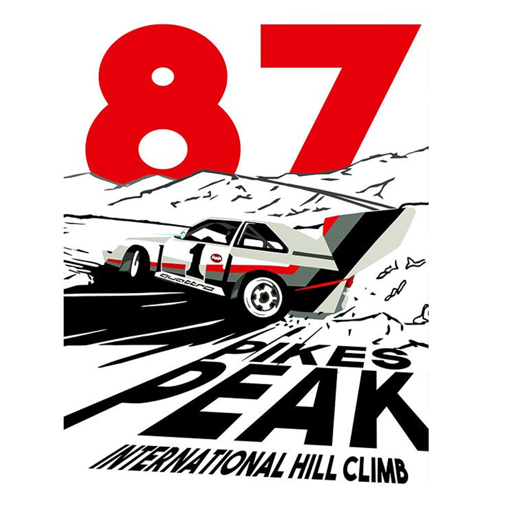 Product image for Pikes Peak Hillclimb 1987 Print