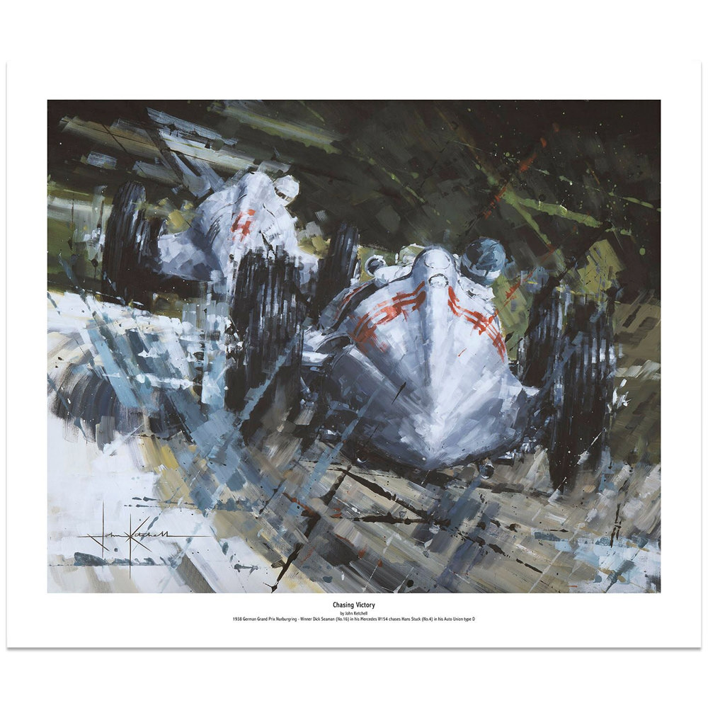 Product image for Mercedes W154 Chasing Victory: Limited Edition Print