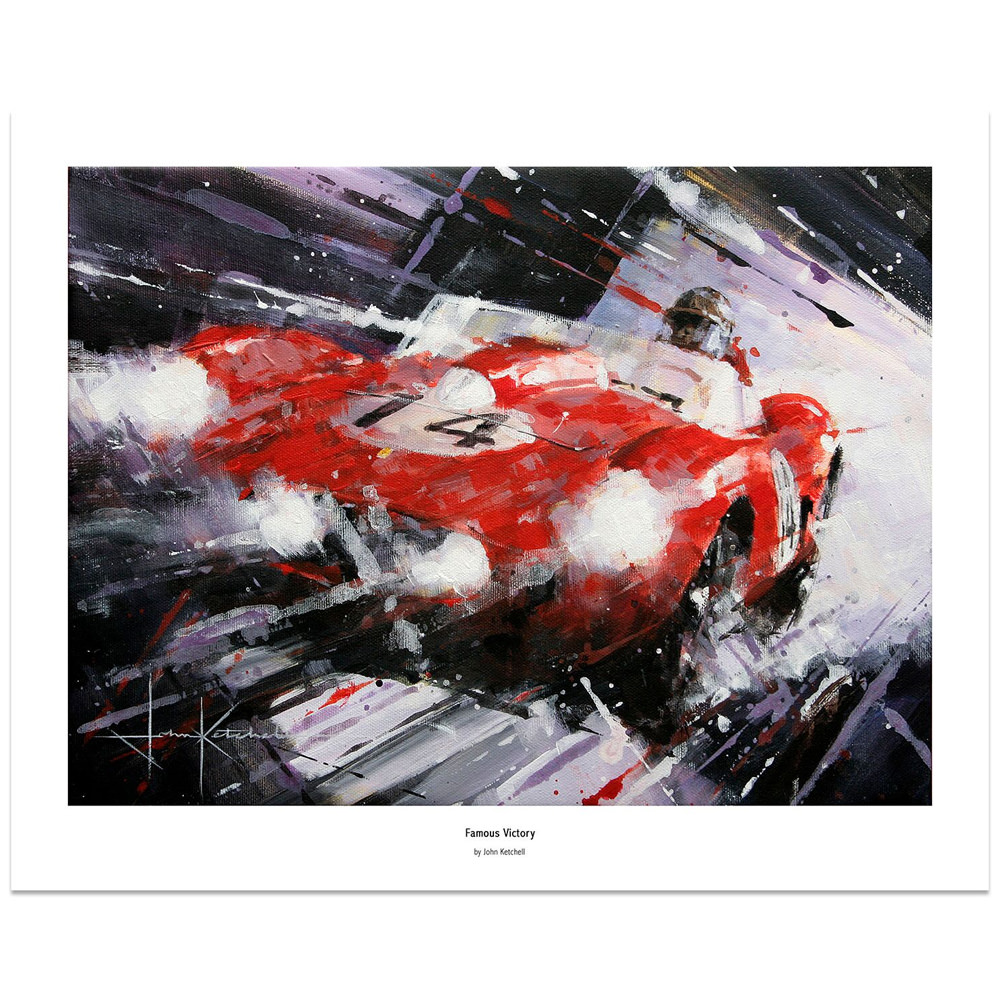 Product image for Phil Hill Le Mans 1958 Famous Victory: Limited Edition Print