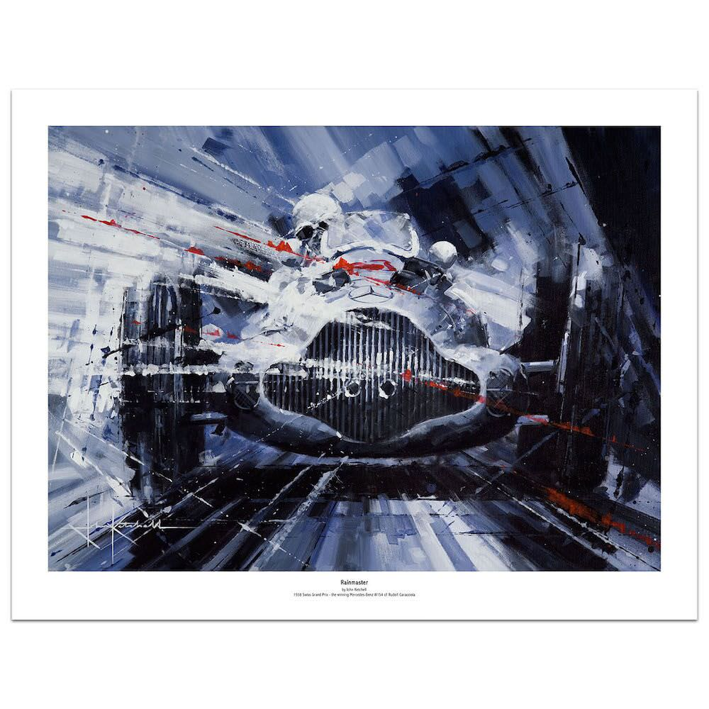 Product image for Mercedes-Benz W154 Rain Master: Limited Edition Print